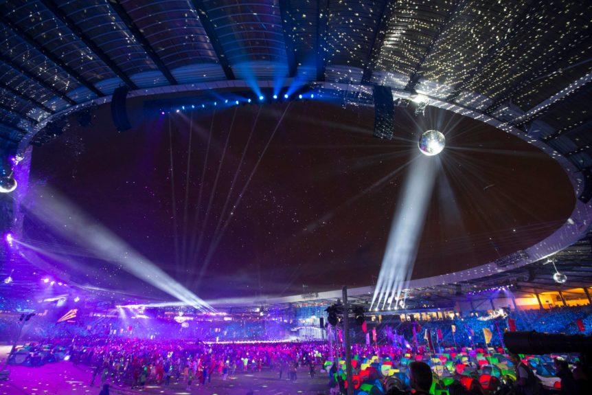 Closing Ceremony. Glasgow Commonwealth Games.